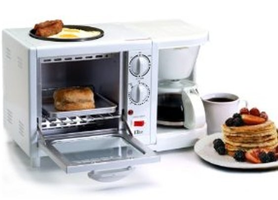Amazon.com: Maxi-Matic EBK-200 Elite Cuisine 3-in-1 Breakfast Station 4-Cup Coffee Maker, White: Kitchen & Dining