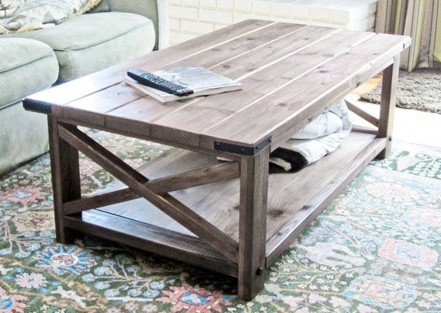 Build a Rustic X Coffee Table
