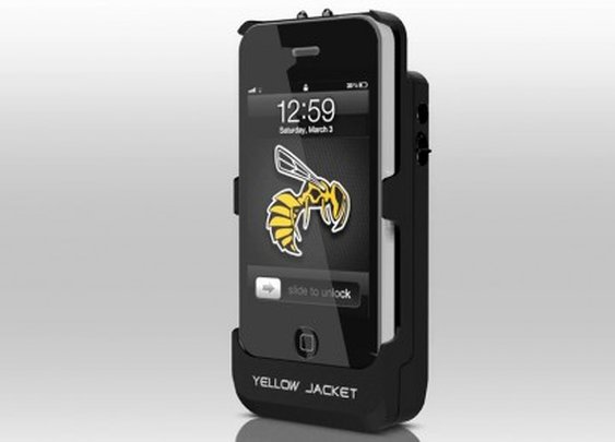Yellow Jacket case sets iPhone to stun