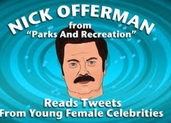 Nick Offerman Reads Tweets From Young Female Celebrities - CONAN on TBS      - YouTube