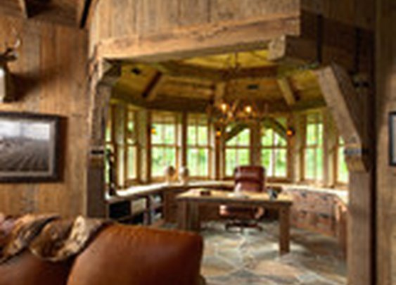 Highcroft Hunting Barn - traditional - home office - minneapolis - by Murphy & Co. Design
