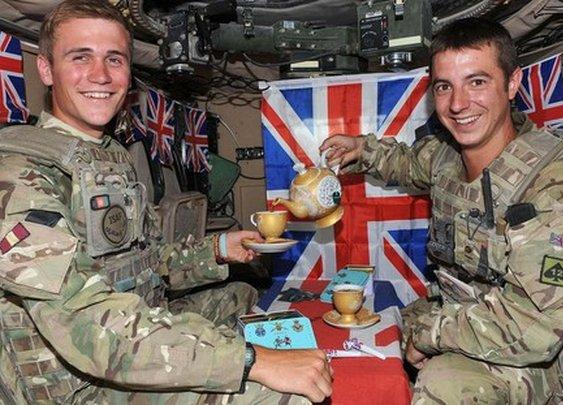 British tank tea party