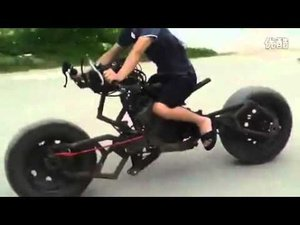 Man Makes His Own Batcycle from Random Junk (video)