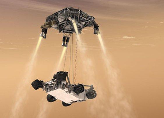 Mars Curiosity Rover Skycrane Landing
