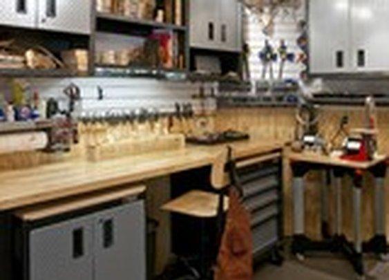 Wood Carver's workshop - traditional - garage and shed - dallas - by RSVP Design Services