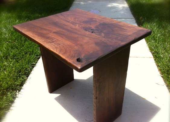Walnut Side Table by AaronsDesigns on Etsy