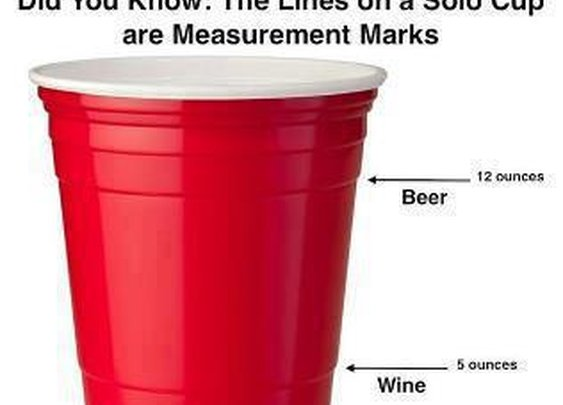 LPT: For when you are mixing drinks, use the lines on a solo cup as measurement marks - Imgur