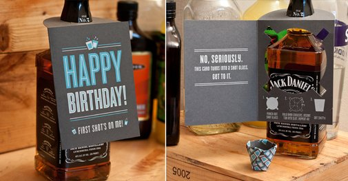 Shot Glass Card | Fifty Five Hi's