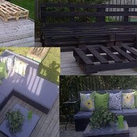 Turn Wooden Pallets into Patio Furniture