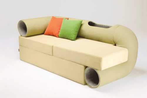 Cat Tunnel Sofa Gives Cats A Place To Play When The Mice Are Away