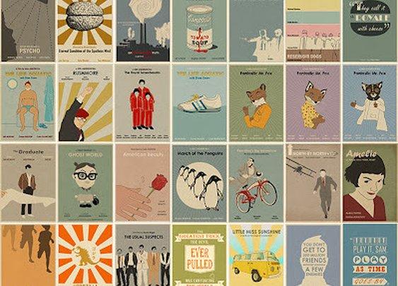 Minimalist, Vintage-Inspired Movie Posters » Man Made DIY | Crafts for Men « Keywords: vintage, poster, movies, film