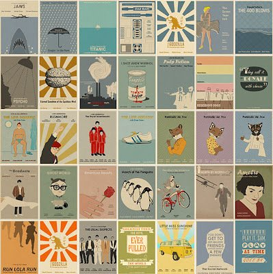 Minimalist, Vintage-Inspired Movie Posters » Man Made DIY | Crafts for Men « Keywords: vintage, poster, movies, film