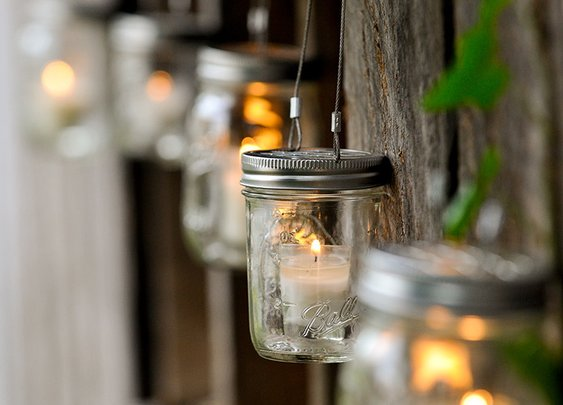Hanging Mason Jar Holder - Bourbon & Boots