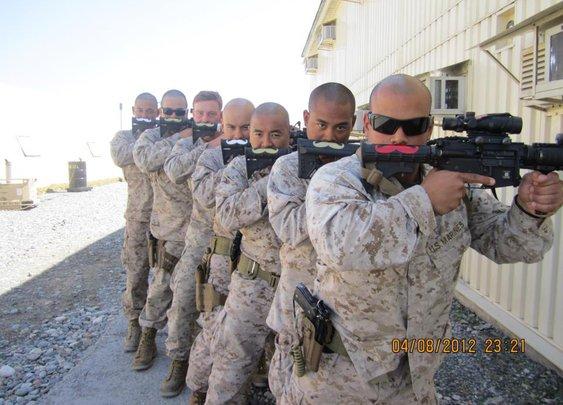 Marine Gun Mustaches, Combat Mustaches | Mustache.org