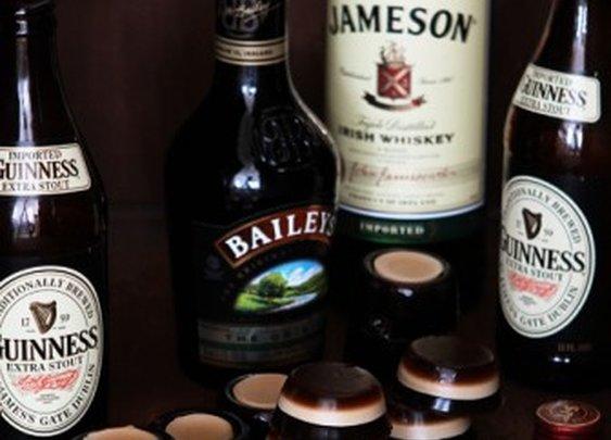 Irish Car Bomb Jell-O Shots