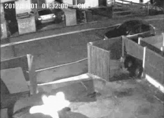 Camera set up to capture vandals records footage of 'child ghost' leaping over family car  | Mail Online