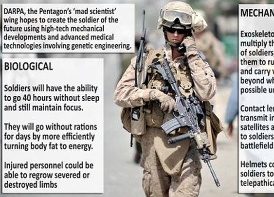 Soldiers will be able to run at Olympic speed and won't need food or sleep with gene technology  | Mail Online
