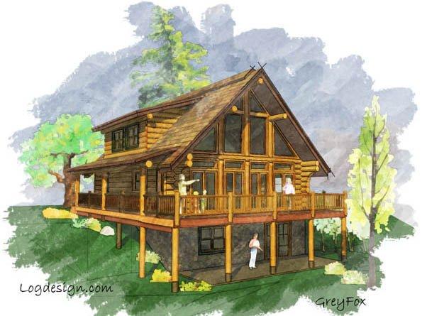 Log Home Plans: Smaller Log Homes: Grey Fox Floor Plan – Estemerwalt.com