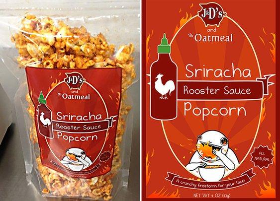 Sriracha Popcorn | Cool Material