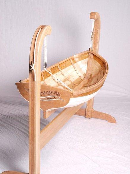 Traditional boat builders baby cradle - by Deckerpair @ LumberJocks.com ~ woodworking community