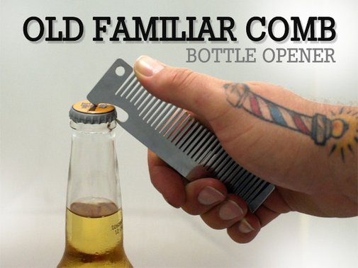 Old Familiar Comb Bottle Opener by Kenji Prince — Kickstarter
