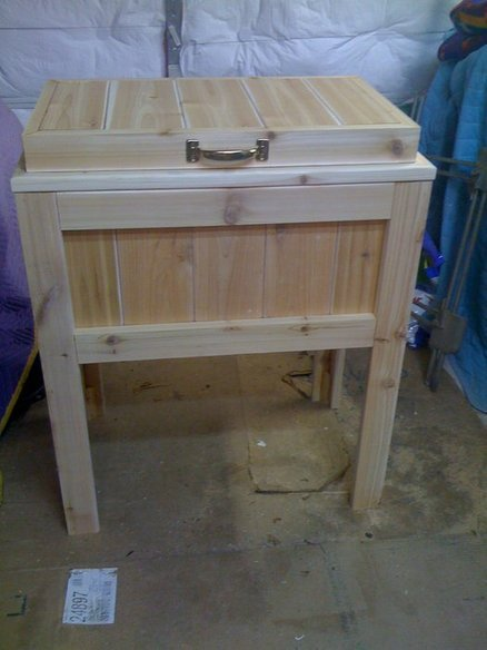 Patio / Deck Cooler Stand - by MoreWoodPlease @ LumberJocks.com ~ woodworking community