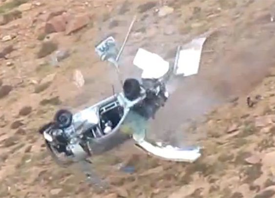 Watch Jeremy Foley's incredible crash at Pikes Peak [UPDATE]