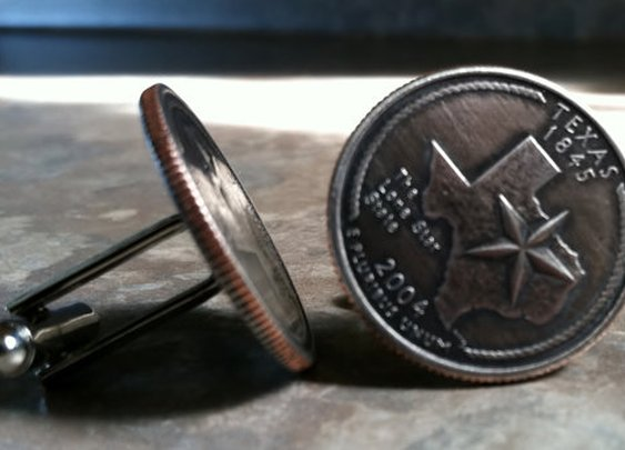 Texas State Quarter Cufflinks