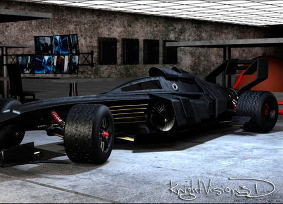 3D Concept F1 Batmobile Tumbler Race Car