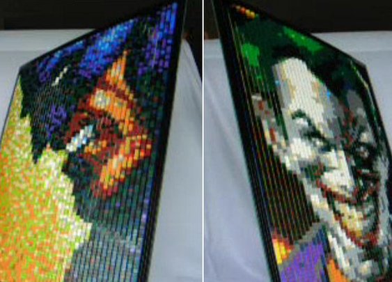 Cool!: LEGO Portrait That Morphs From Batman To Joker  | Geekologie