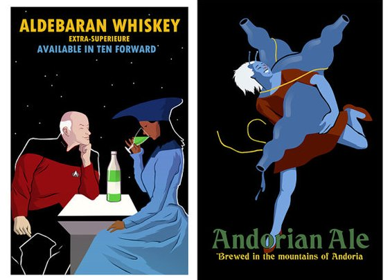 Etsy Find : Star Trek Beverages Poster « SciFi TAKEOVER