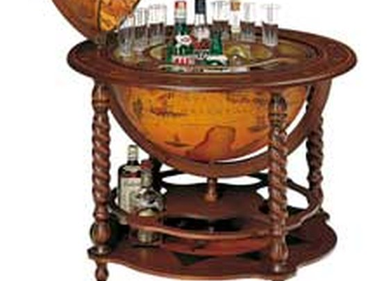 Noble Meridian Floor Globe Bar on Casters | Ship Free to U.S. & Europe