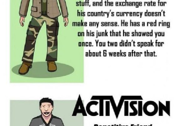 If video game companies were your friends.