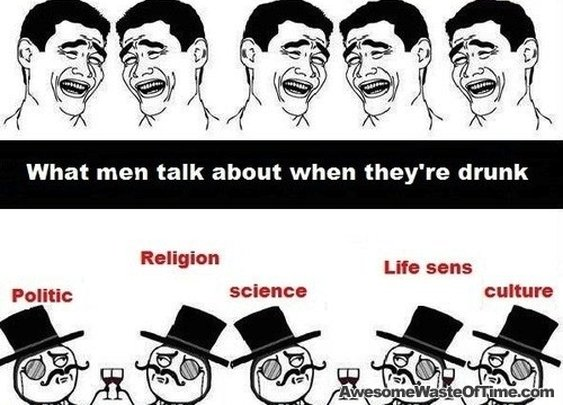 Men: drunk talk vs. sober talk