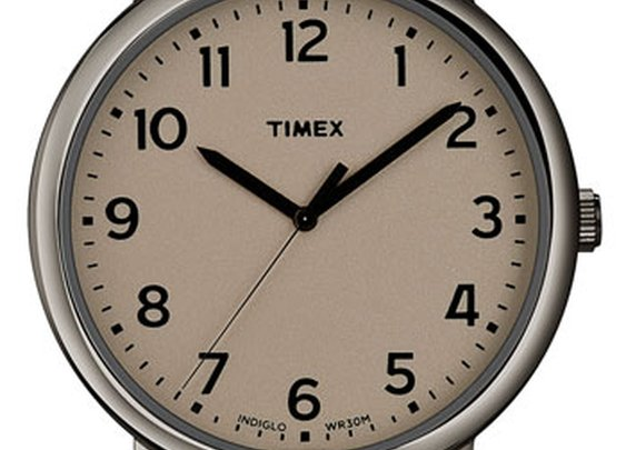 Timex® 'Easy Reader' Leather Strap Watch   Nordstrom