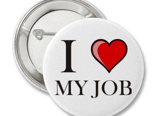 I love my job buttons from Zazzle.com