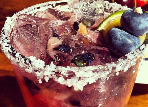 Blueberry Margarita + Recipes + Chef Magaña