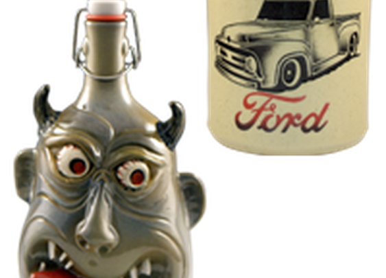 Custom Handmade Growlers | Face Jugs | Tap Handles | Whiskey Jugs and Bottles