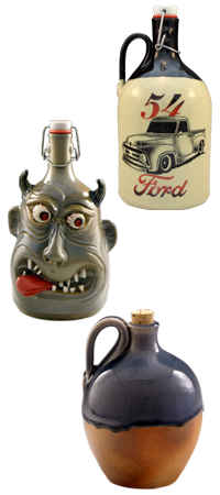 Custom Handmade Growlers | Face Jugs | Tap Handles | Whiskey Jugs and Bottles