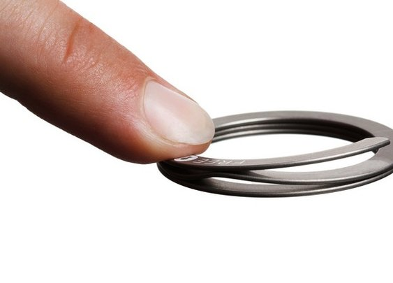 Because men don't have fingernails for their keychains