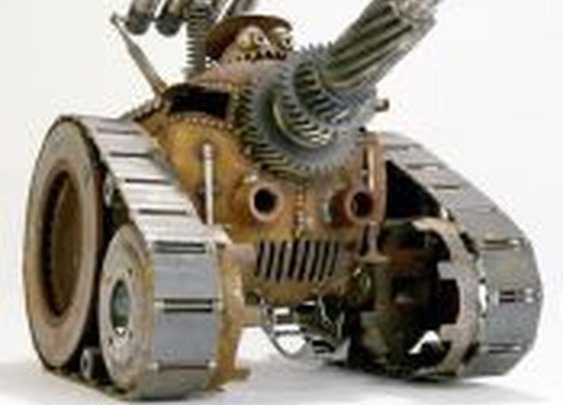 Gnome Be Gones :: Tanks :: One Man Tank With Propane Tank Body - Sugar Post is the home of Fred Conlon's distinctive and engaging metal art
