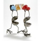 Gnome Be Gones :: Specialty Pieces :: Gnome Bearers W/Gnome - Sugar Post is the home of Fred Conlon's distinctive and engaging metal art