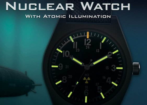Nuclear Watch | Tritium Watch | Powered by Real Nuclear Energy!