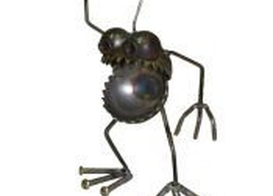Gnome Be Gones :: Mini GBG :: MINI GBG GRENADE - Sugar Post is the home of Fred Conlon's distinctive and engaging metal art