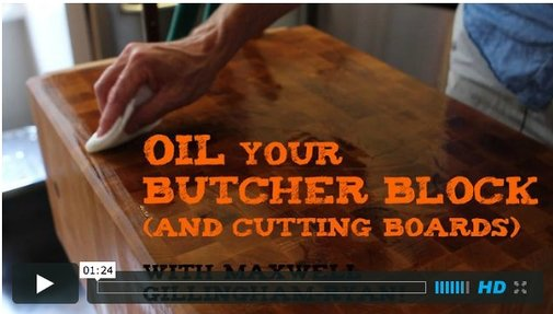 One Minute Tip:  Oil Your Butcher Block   Apartment Therapy Videos  | Apartment Therapy