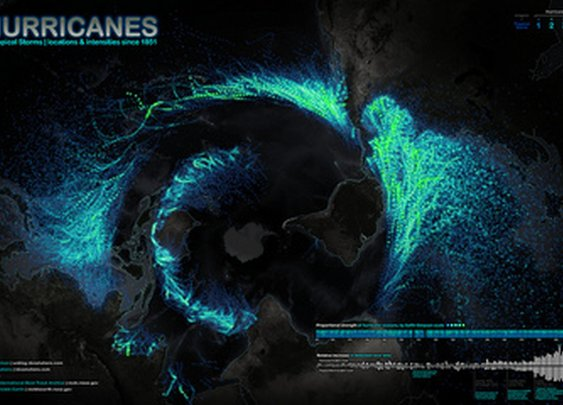 Dazzling Map Shows More Than 150 Years of Hurricanes