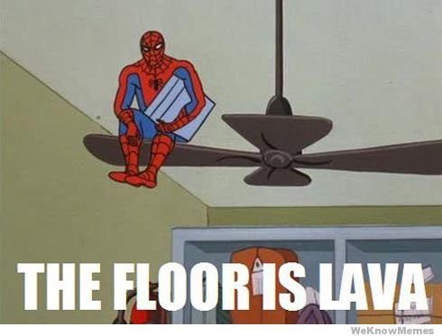 The Floor Is Lava | WeKnowMemes