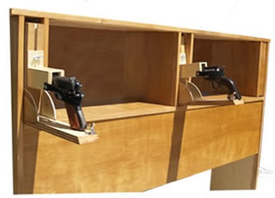 Headboard with Secret Gun Compartments
