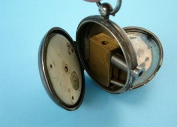 Antique English Pocket Watch Conceals Secret Pistol