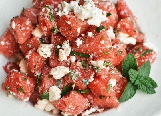 Recipe:  Watermelon Salad with Feta & Mint